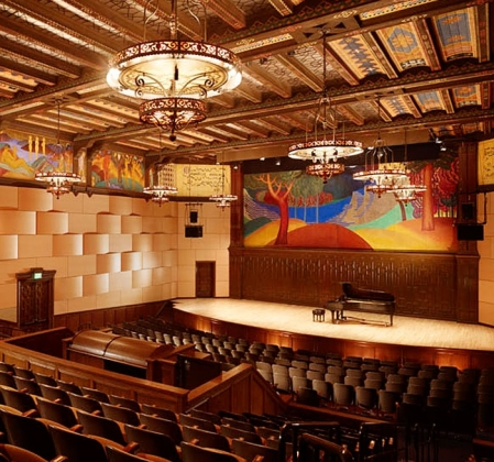 Image of Mills College's auditorium.